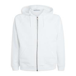 zip White Hoodies
